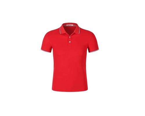 翻领短袖POLO衫工作服-红色