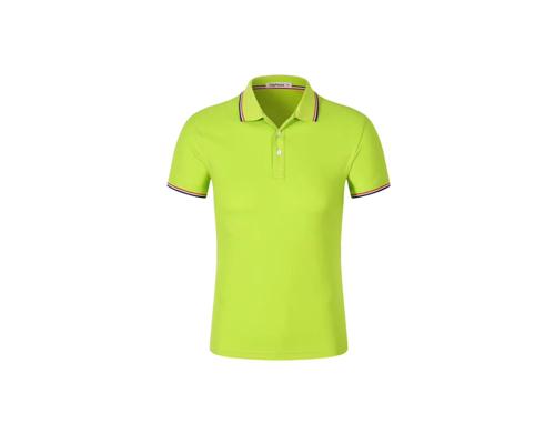 翻领短袖POLO衫工作服-绿色