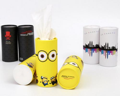 圆筒纸巾盒-可定制