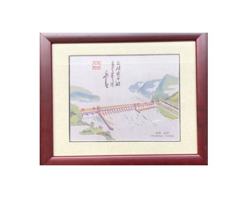 三峡大坝蜀锦